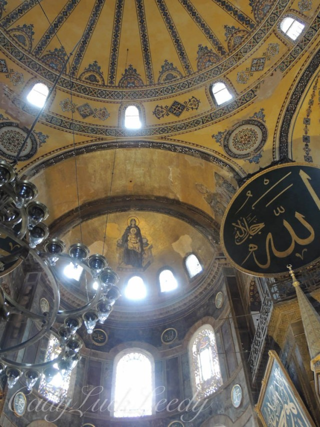 One of Many Icons in Hagia, Sophia, Istanbul, Turkey
