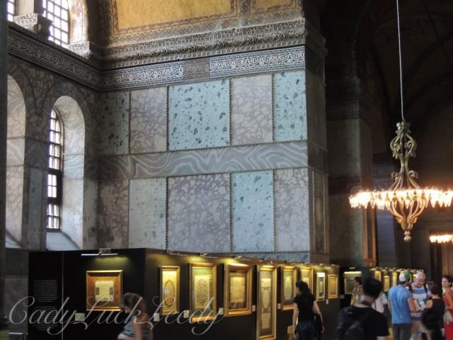 Marble Tiles, Hagia Sophia, Istanbul, Turkey