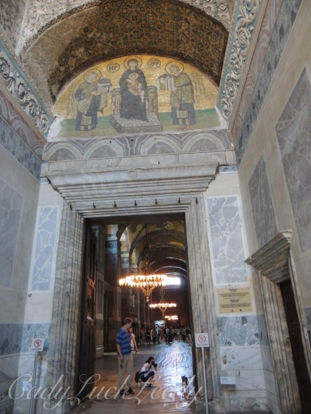 Icon over Doorway, Hagia Sophia, Istanbul, Turkey