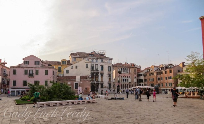 Walking Through Another Square of Venice, Italy