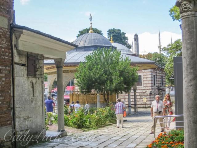 Courtyard of Hagia Sophia, Istanbul, Turkey