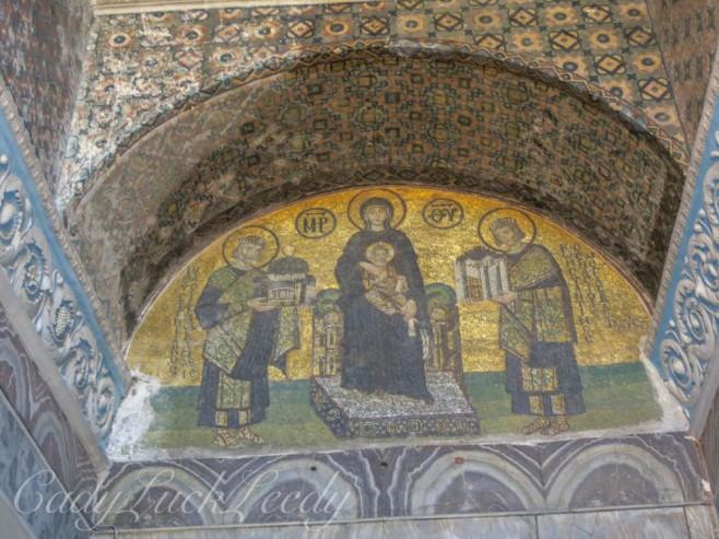 Icon in Hagia Sophia, Istanbul, Turkey