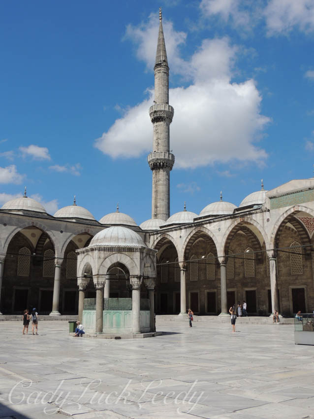 The Courtyard of the Blue Mosque, Istanbul, Turkey
