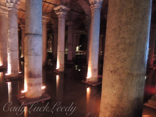The Ancient Columns in the Underground Cistern, Istanbul, Turkey