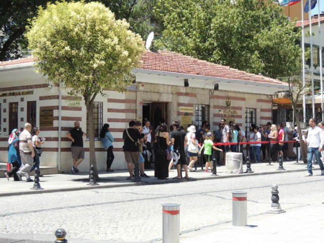 The Tram Station at Divan Yolu, Istanbul, Turkey