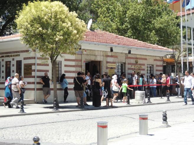 The Tram Station at Divan Yolu, Istanbul, Turkey