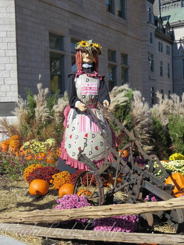 A Maiden in the Garden! Quebec City, Canada