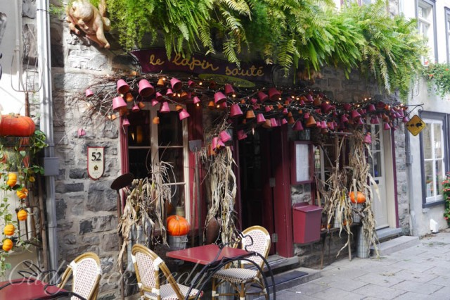 Another View of Le Lapin Restaurant, Quebec City, Canada