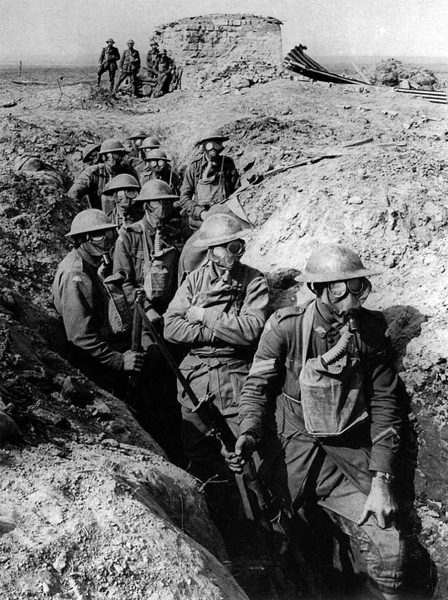 Australian Infantry, Small Box Respirators, Ypres 1917