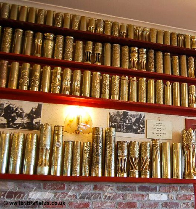 Decorative Shell Casings in the Hooge crater Museum, Flanders Fields