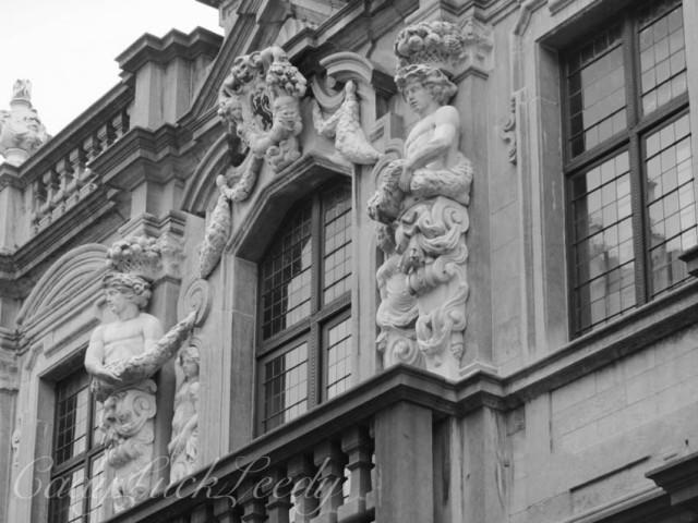 Stonework in Black and White, Bruges, Belgium