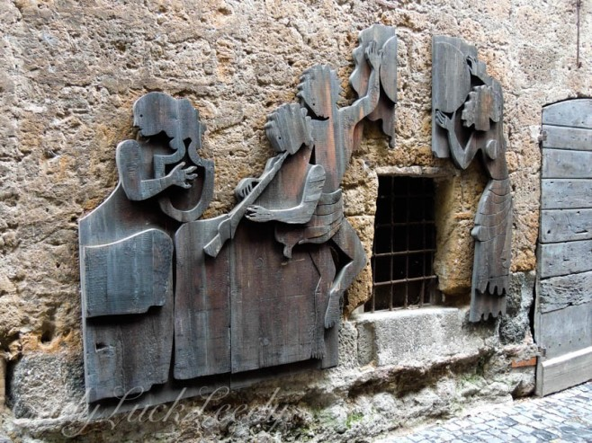 Woodcuttings on Walls, Orvieto, Italy