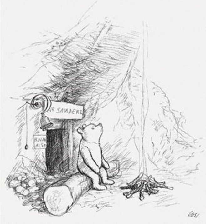 Pooh in an Illustration by E. H. Shepard.