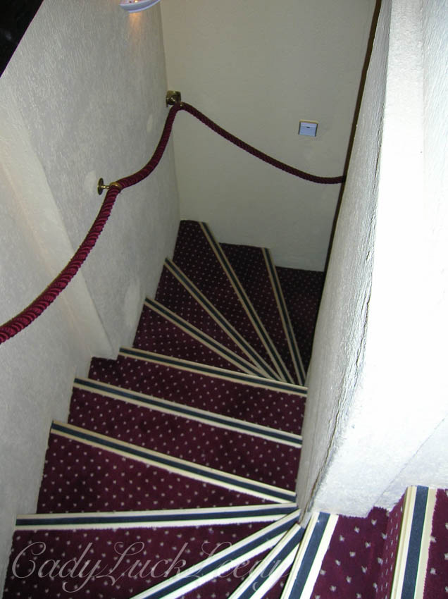 The Winding Stairway to Our Room in Colmar, France