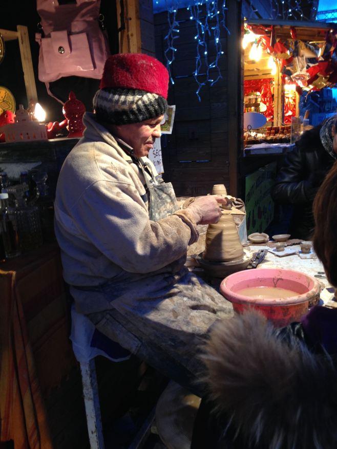 The Pottery Man, Montmarte, Paris Christmas Market