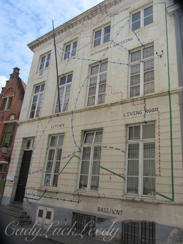 This Home is Mapped Out on the Wall