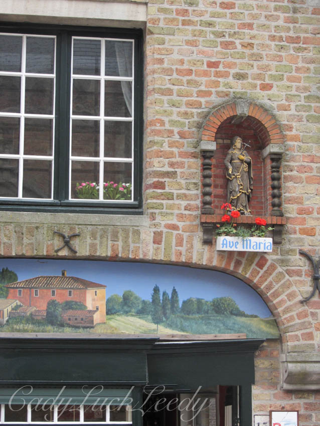Close Up of Shop Window, Brugge, Belgium