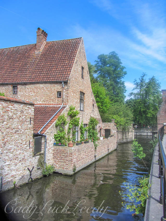 The Gardens Along the Canal, Brugge, Belgium