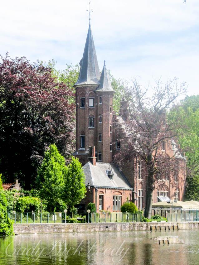 Picturesque Church in Brugge, Belgium