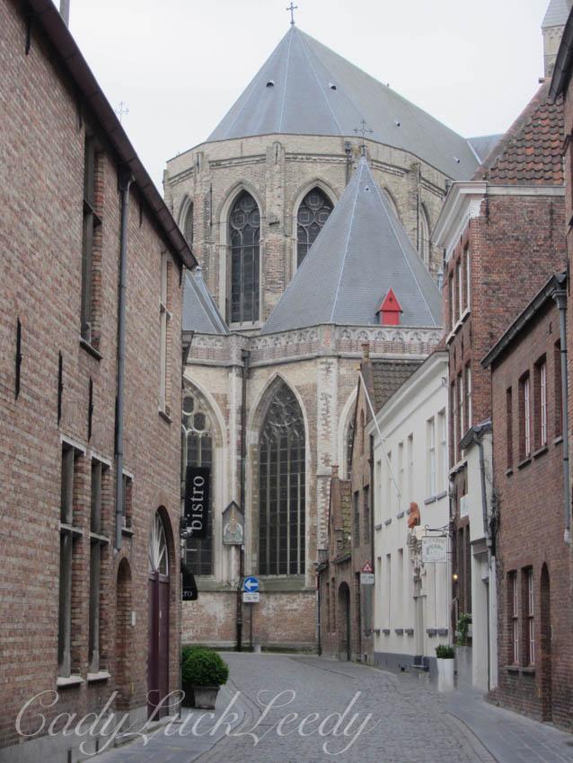 Quiet Morning Street, Brugge, Belgium