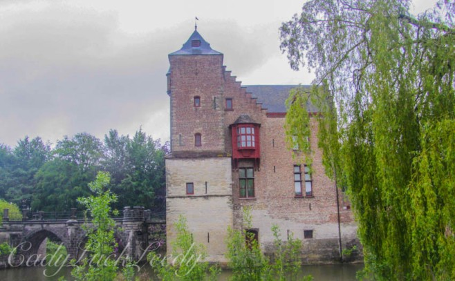 The Moated Castle of Tillegem, Belgium