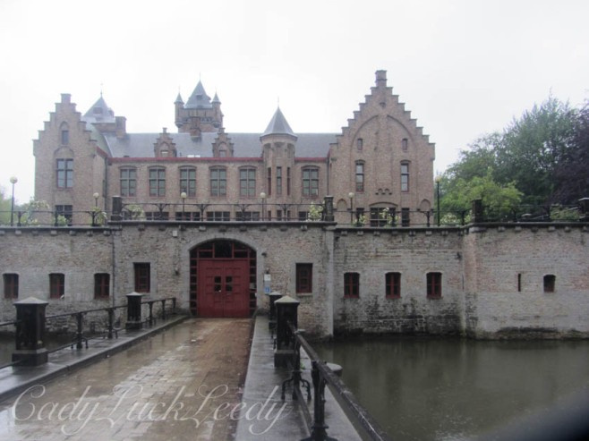 The Moated Castle of Tillegem, Belgium