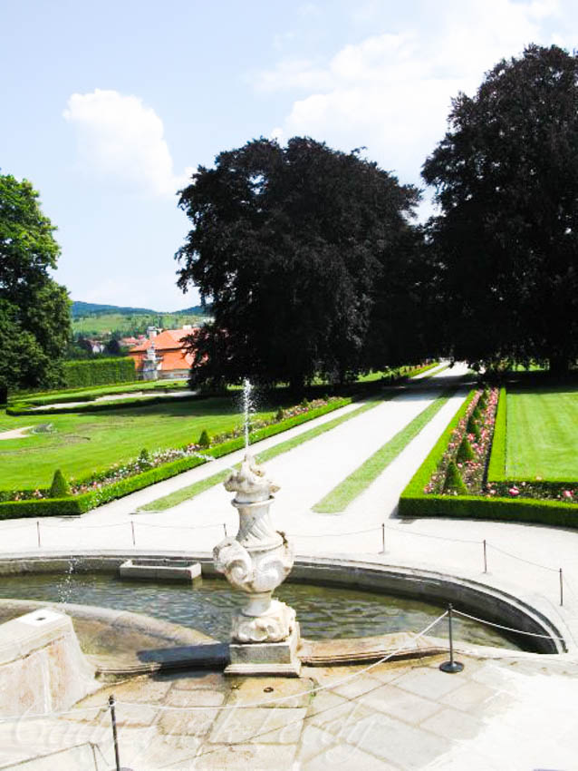 The Castle Gardens of Cesky Krumlov, the Czech Republic