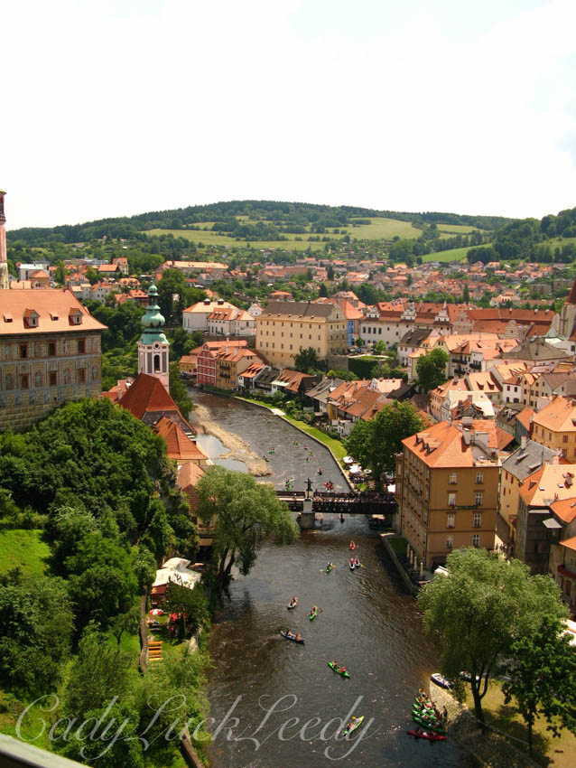 The Village of Cesky Krumlov, the Czech Republic