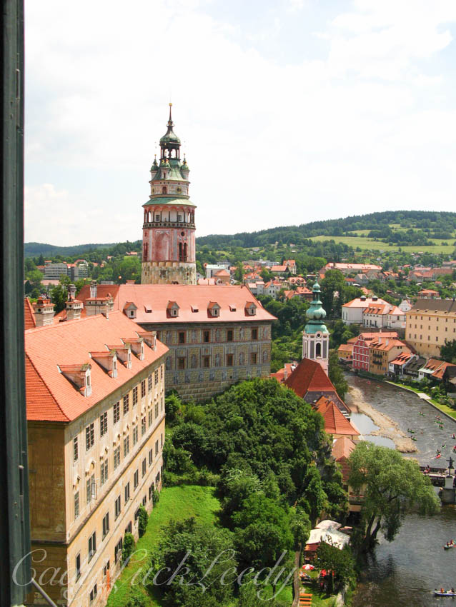 The Round Tower, Castle Krumlov, the Czech Republic
