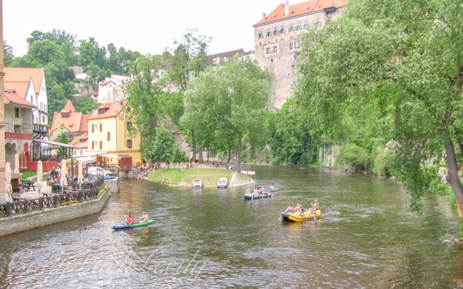 A View of Cesky Krumlov, the Czech Republic