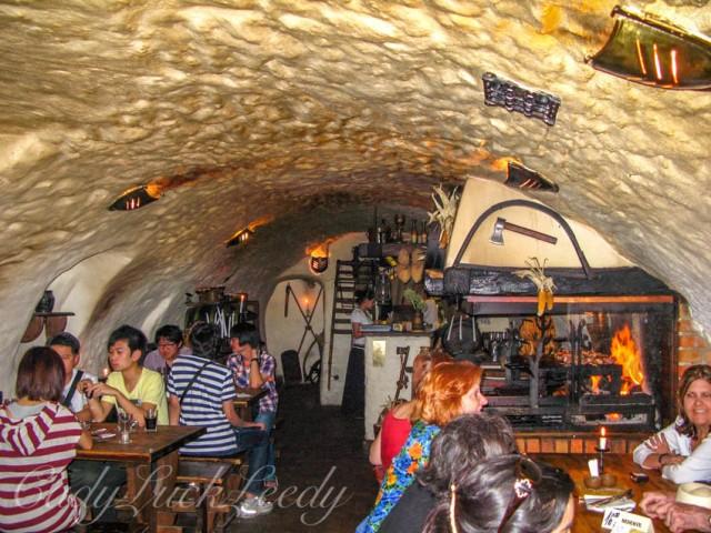 Krema v Satlavske Restaurant, Cesky Krumlov