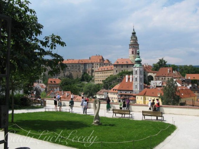 Park In Town With Great Views of Cesky Krumlov