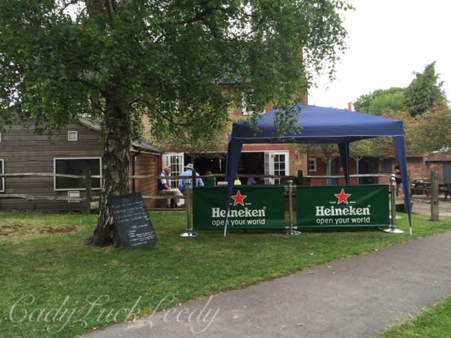 Getting Ready for the Fete at the Half Moon Pub, Warninglid, Sussex