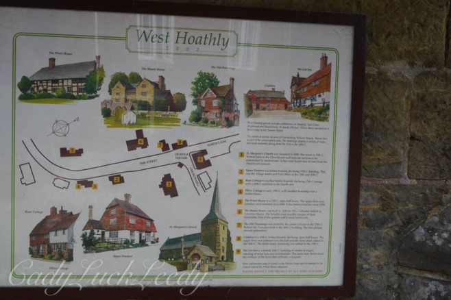 Map of Center of Village, West Hoathly, Sussex