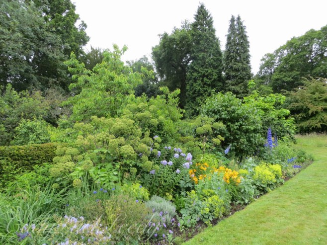 Variety of Color in the Border of the Garden, Wealden House, Sussex