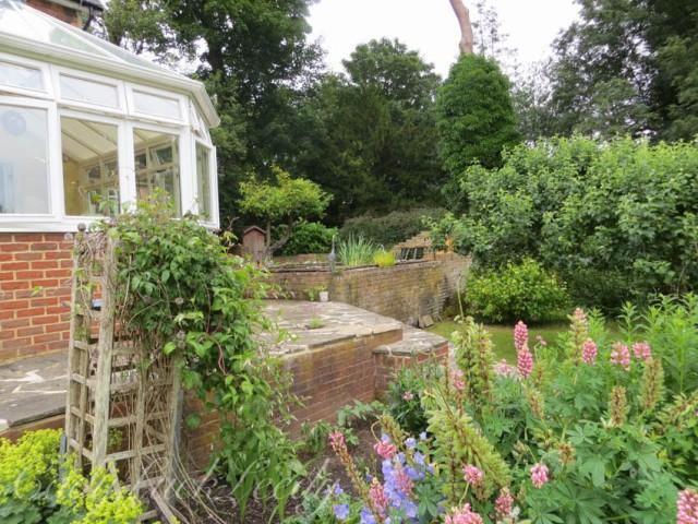 The Back Garden at Wealden House, Warninglid, Sussex