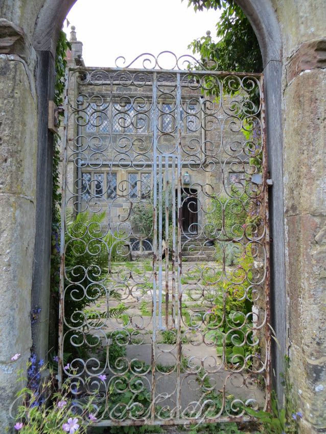 Looking Through the Gate to the Manor House, West Hoathly, Sussex