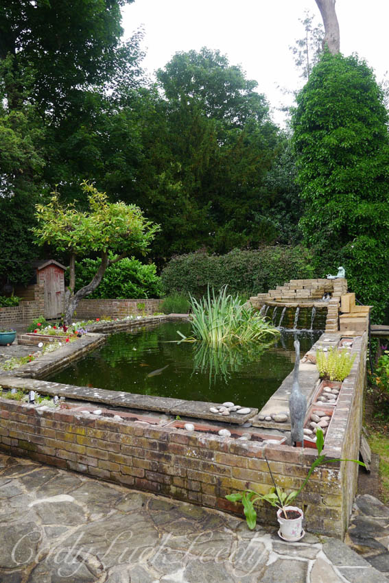 The Koi Pond Adds Dimension and Interest, Wealden House, Warninglid, Sussex