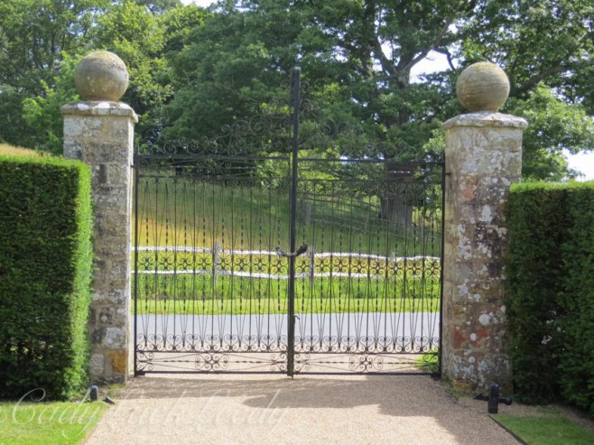 The Main Gate to Bateman's, Burwash, East Sussex, UK