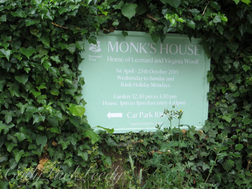 Sign at Monk's House, Rodmell, Sussex, UK