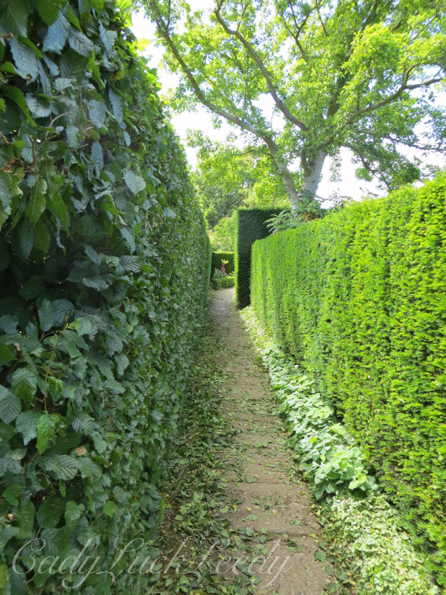 A Connecting Walkway at Sissinghurst Garden, Kent UK