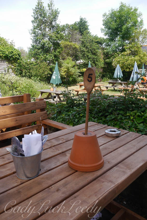 The Garden at the George Inn, Alfriston, Sussex, UK