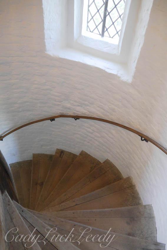 Steps to the Tower, Sissinghurst, Castle, Cranbrook, Kent, UK