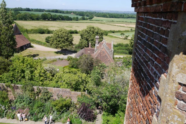 View from Prospect Tower, Sissinghurst Castle, Kent, UK