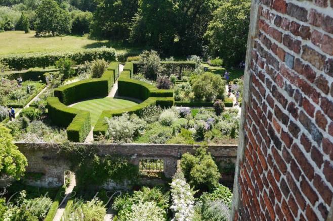 View from Prospect Tower, Sissinghurst Castle, Kent, UK