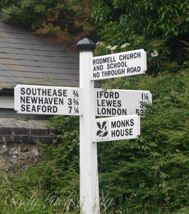 The Sign to Monk's House, Rodmekll, Sussex, UK