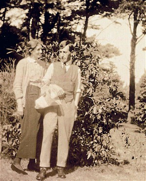 Virginia and Leonard Woolf, Monk's House, Rodmell, UK