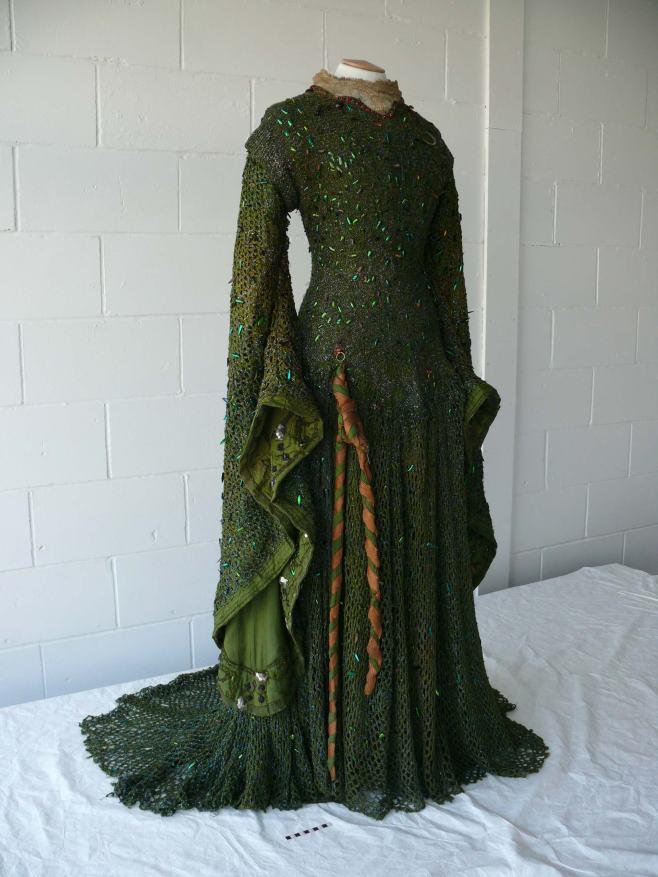 Lady Macbeth Beetle wing Gown, Worn by Ellen Terry