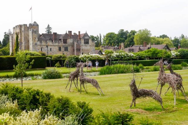 The Deer on the Lawn at Hever Castle, Edenbridge, UK