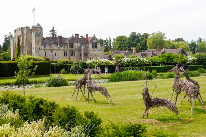 The Deer on the Lawn at Hever Castle, Edenbridge, UK